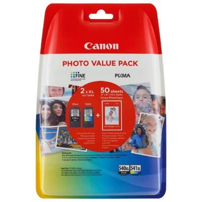 Canon originální value pack PG-540XL+CL-541XL + fotopapír PG-540XL+CL-541XL, black/color, 5222B013, Canon MG2150,2250,3150,3250, 4
