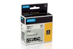 Dymo Rhino 18443, S0718580, 9mm x 5.5m čierna tlač / biely podklad, originálna páska