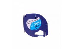 Kompatibilná páska s Dymo 59426, S0721600 / S0721650, 12mm x 4m, čierny tisk / modrý podkla
