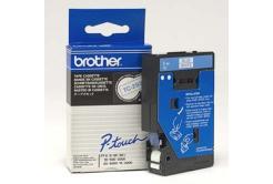 Brother TC-293, 9mm x 7,7m, modrá tlač / biely podklad, originálna páska