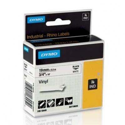 Dymo Rhino 18445, S0718620, 19mm x 5,5m čierna tlač / biely podklad, originálna páska