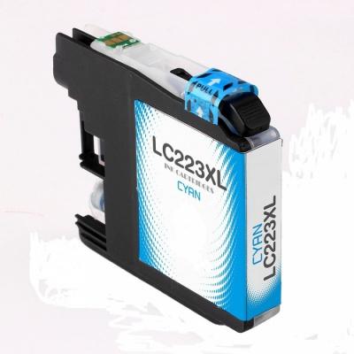Brother LC-223XL azúrova (cyan) kompatibilna cartridge