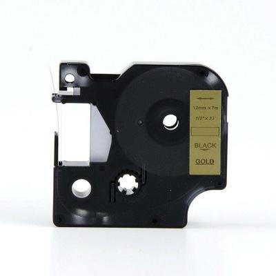 Kompatibilná páska s Dymo 40923, 9mm x 7m, čierny tisk / zlatý podklad