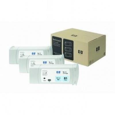 HP 81 C5070A svetle azúrová (light cyan) originálna cartridge