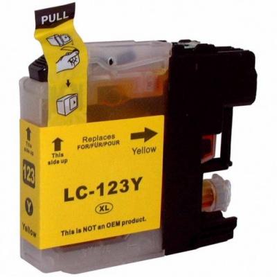Brother LC-123 žltá (yellow) kompatibilná cartridge