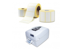 Samolepiace etikety 50x50 mm, 1000 ks, termo, role
