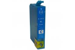 Epson T3472 azúrova (cyan) kompatibilna cartridge