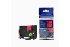 Kompatibilná páska s Brother TZ-441 / TZe-441, 18mm x 8m, čierna tlač / červený podklad