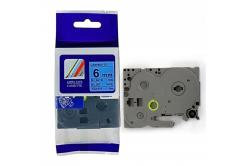 Kompatibilná páska s Brother TZ-511 / TZe-511, 6mm x 8m, čierna tlač / modrý podklad