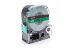 Epson LC-SC24GW, 24mm x 8m, černý tisk / zelený podklad, kompatibilní páska