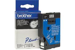 Brother TC-201, 12mm x 7,7m, čierna tlač / biely podklad, originálna páska
