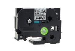 Kompatibilná páska s Brother TZ-S151/TZe-S151, 24mm x 8m, extr.adh. čierny tisk/čirý podkla