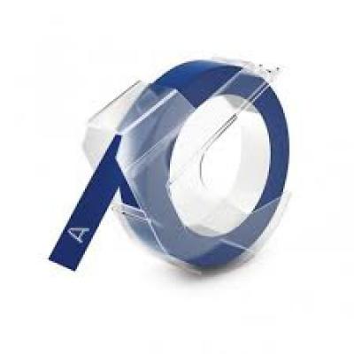 Kompatibilná páska s Dymo S0898140, 9mm x 3m, biela tlač / modrý podklad