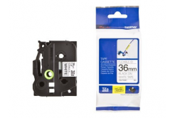 Brother TZ-FX261 / TZe-FX261, 36mm x 8m, čierna tlač/biely podklad, originálna páska