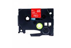Kompatibilná páska s Brother TZ-455 / TZe-455, 24mm x 8m, biela tlač / červený podklad