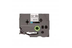 Kompatibilná páska s Brother HSe-151, 23,7mm x 1,5m, čierna tlač / priehľadný podklad