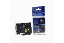 Kompatibilná páska s Brother TZ-355 / TZe-355, 24mm x 8m, biela tlač / čierny podklad