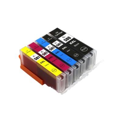 Canon CLI-581XXL Bk, C,M,Y + PGI-580XXLBk multipack kompatibilna cartridge