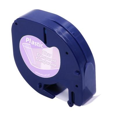 Dymo 12267 LetraTag 12mm x 4m, černý tisk / průhledný podklad, kompatibilní páska