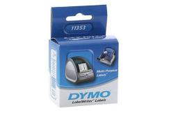 Dymo 11353, S0722530, 25mm x 13mm, bílé multifunkční papírové štítky