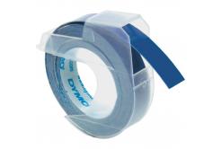 Dymo S0898140, 9mm x 3m, biela tlač/modrý podklad, originálna páska