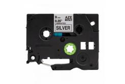 Kompatibilná páska s Brother TZ-921 / TZe-921, 9mm x 8m, čierna tlač / strieborný podklad