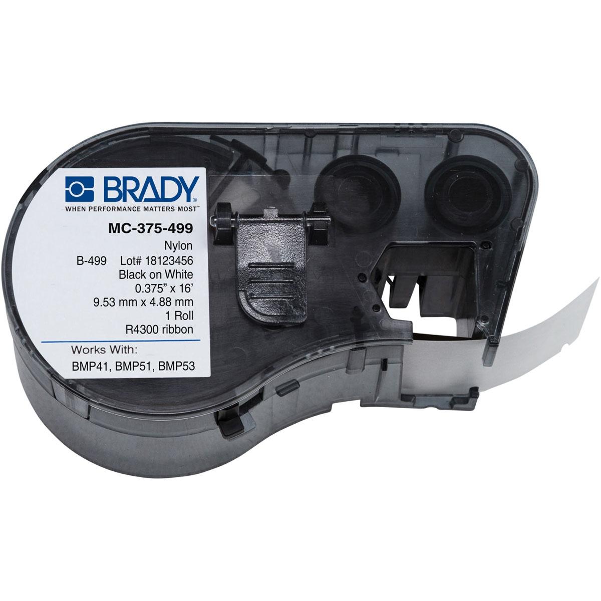 Brady MC-375-499 / 143349, Labelmaker Labels, 9.53 Mm X 4