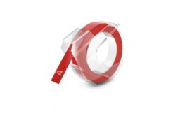 Kompatibilná páska s Dymo S0898150, 9mm x 3m, biela tlač / červený podklad