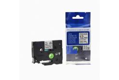 Kompatibilná páska s Brother TZ-S231/TZe-S231 12mm x 8m extr.adh. čierna tlač/biely podklad