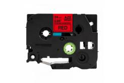 Kompatibilná páska s Brother TZ-S451 / TZe-S451, 24mm x 8m, extr.adh. čierna tlač / červený podklad