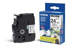 Brother TZ-FX251 / TZe-FX251, 24mm x 8m, čierna tlač/biely podklad, originálna páska