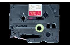 Brother TZ-RW34 / TZE-RW34, 12mm x 4m, zlatá tlač / červený podklad, originálna páska