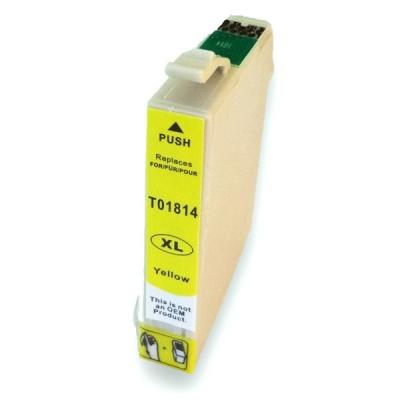 Epson T1814 XL žltá (yellow) kompatibilná cartridge