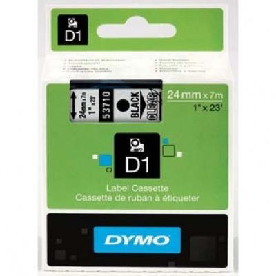 Dymo D1 53710, S0720920, 24mm x 7m čierna tlač / priehľadný podklad, originálna páska