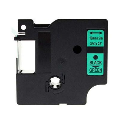 Kompatibilná páska s Dymo 45809, S0720890, 19mm x 7m, čierna tlač/zelený podklad