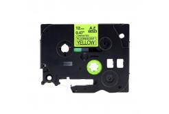 Kompatibilná páska s Brother TZ-C31/TZe-C31, signálne 12mm x 8m, čierna tlač/žltý podklad