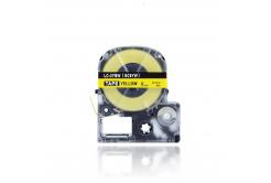Epson LC-SC9YW, 9mm x 8m, černý tisk / žlutý podklad, kompatibilní páska