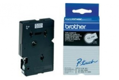 Brother TC-291, 9mm x 7,7m, čierna tlač / biely podklad, originálna páska
