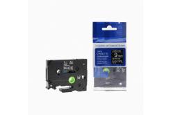 Kompatibilná páska s Brother TZ-325 / TZe-325, 9mm x 8m, biela tlač / čierny podklad