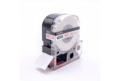 Epson LC-SS24RW, 24mm x 8m, červený tisk / bílý podklad, kompatibilní páska