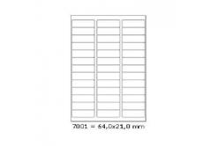 Samolepiace etikety 64 x 21 mm, 39 etikiet, A4, 100 listov