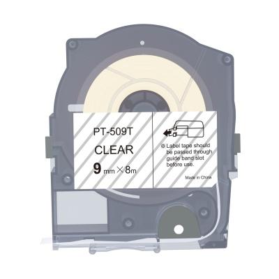 Max LM-509T, 9mm x 8m, průhledná kompatibilní páska