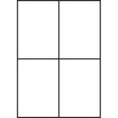 Samolepiace etikety 105 x 148 mm, 4 etikiety, A4, 100 listov