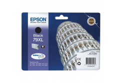 Epson originálna cartridge C13T79014010, 79XL, XL, black, 2600 str., 42ml, 1ks, Epson WorkForce Pro WF-5620DWF, WF-5110DW, WF-5690DWF