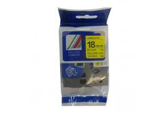Kompatibilná páska s Brother TZ-S641/TZe-S641 18mm x 8m extr.adh. čierna tlač / žltý podklad