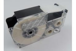 Kompatibilná páska s Casio XR-18AX 18mm x 8m biela tlač / priehľadný podklad