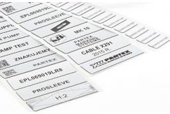 Partex EPL027015LR9C 27x15mm, bílá 1500ks, EPL panelový štítek