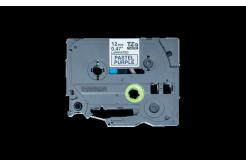 Brother TZ-MQF31 / TZE-MQF31, 12mm x 4m, čierna tlač / ialový podklad, originálna páska