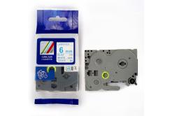 Kompatibilná páska s Brother TZ-213 / TZe-213, 6mm x 8m, modrá tlač / biely podklad