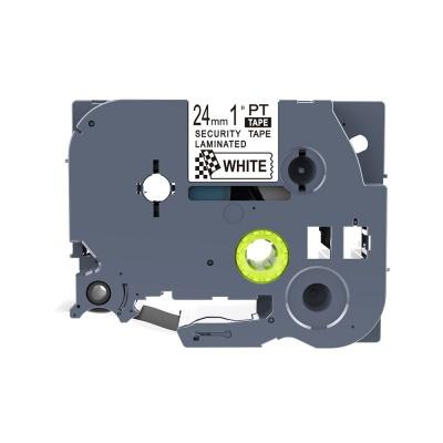 Brother TZ-SE5 / TZe-SE5, 24mm x 8m, černý tisk / bílý podklad, plombovací, kompatibilní páska